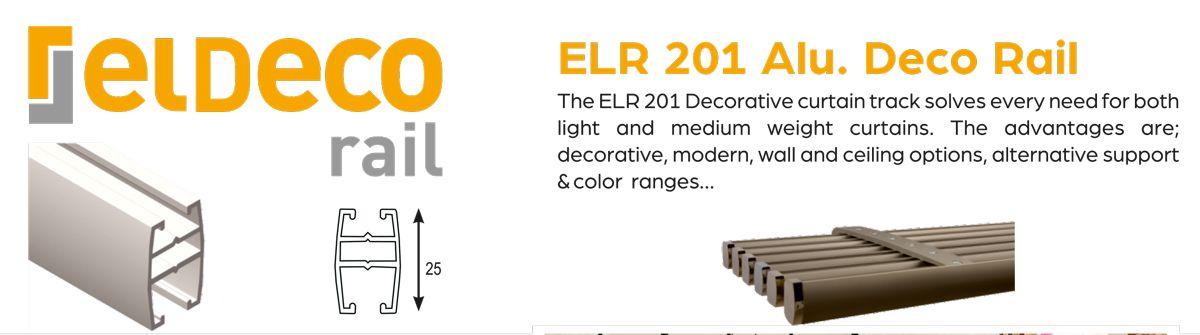 Eldeco Decorative Aluminium Curtain Rail