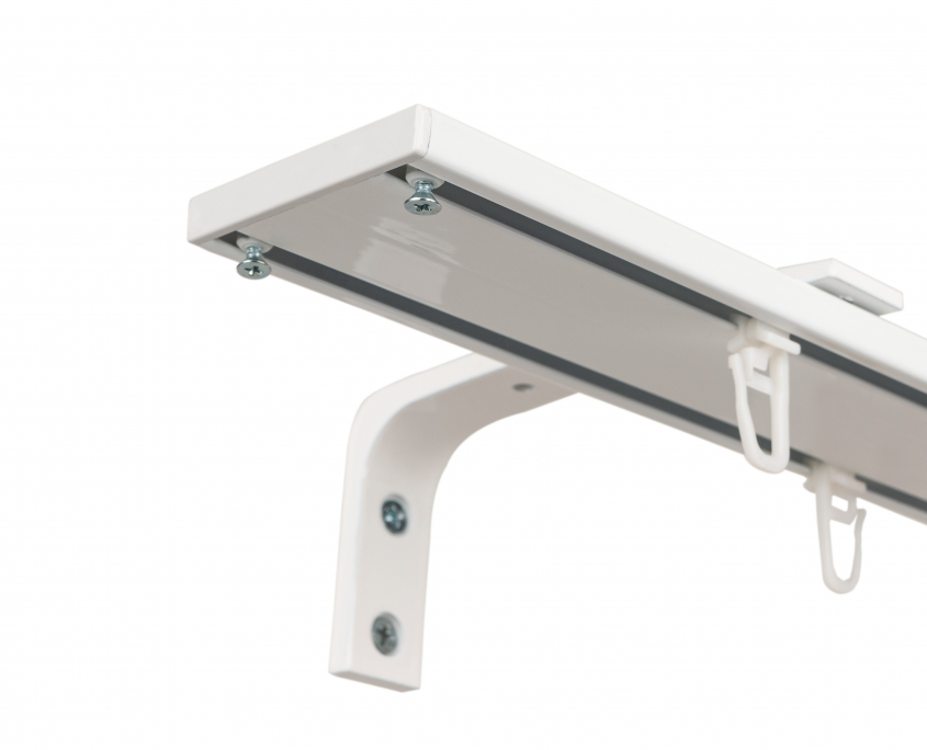 ELR 58 Double Rail /White with wall bracket